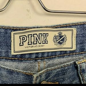 PINK Victoria's Secret Jeans - PINK VS Denim Flare Distressed Blue Sz: 25